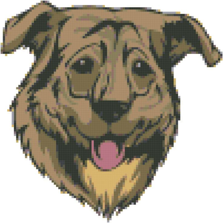 Cursinu Dog Breed Portrait Cross Stitch Pattern and Tutorial Instant Download Printable by AmericanPooch on Etsy