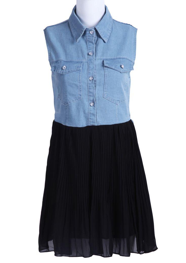Blue Sleeveless Dresses - ShopStyle