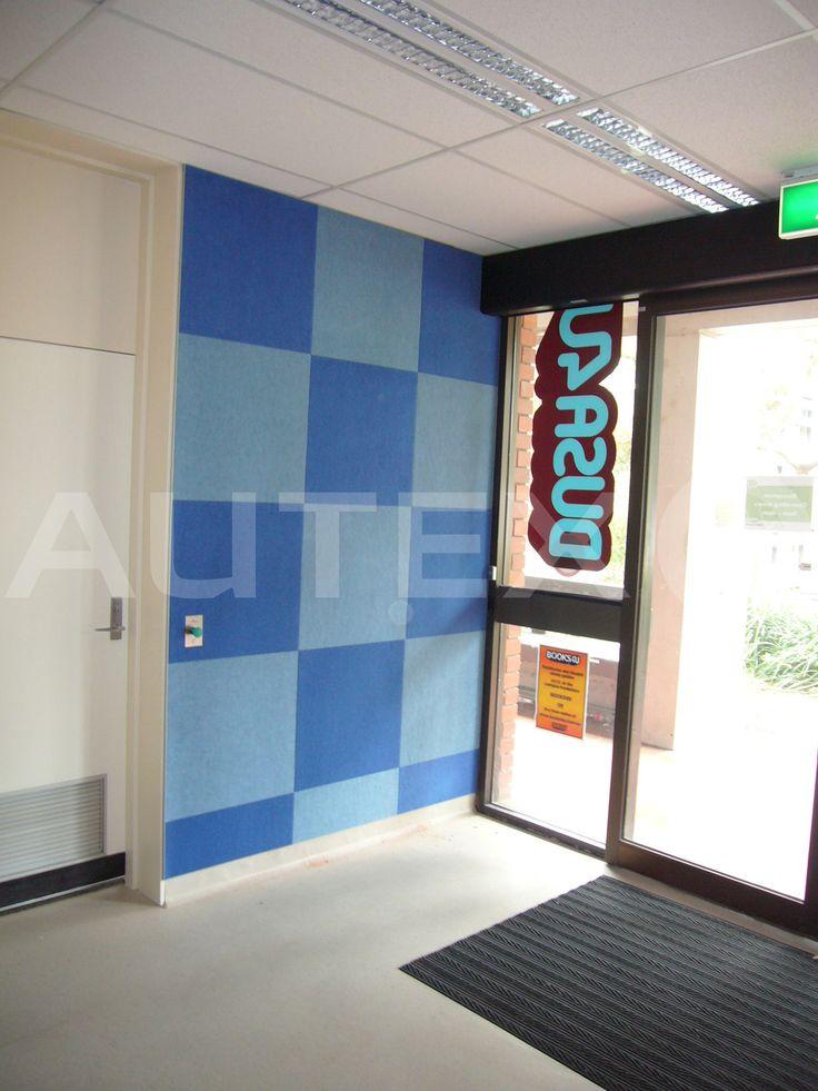 Autex Interior Acoustics - Composition® Peel'n'Stick - Monash University, Melbourne, Australia - Colours: Azure & Stonewash - Acoustics in Education