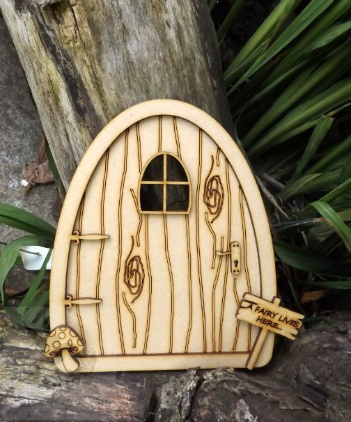Free Fairy Doors   10  2    Unpainted Laser by woodencraftedgifts