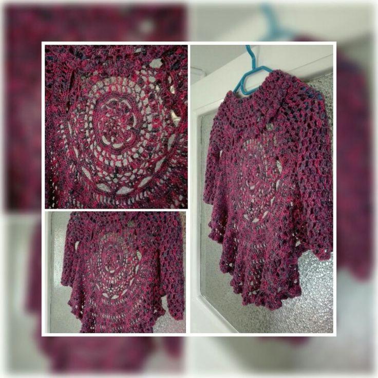 Crochet circle cardigan