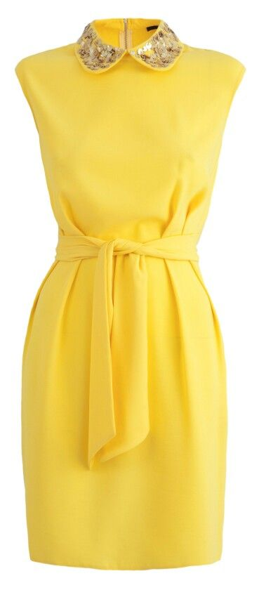Love it!! Yellow, smart dress