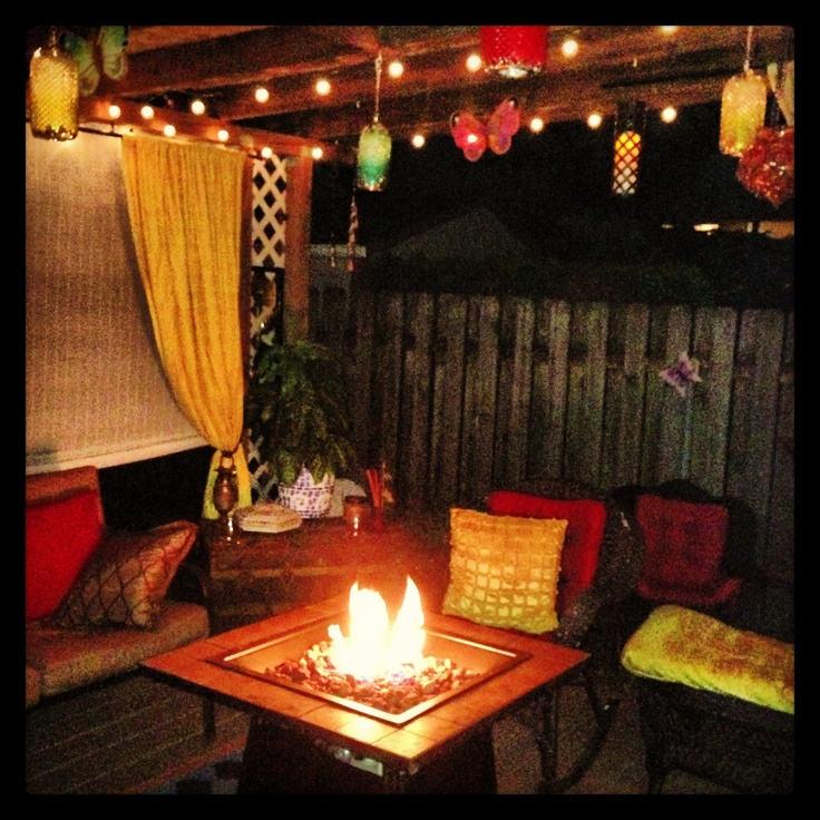Boho Patio Style Outdoor Decor Pinterest Fire Pits Chic And Outdoor Rooms