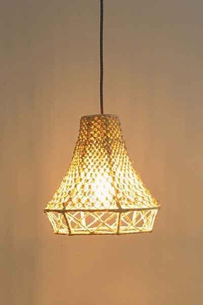 Macrame Pendant Lamp Light Hearted Pinterest Urban