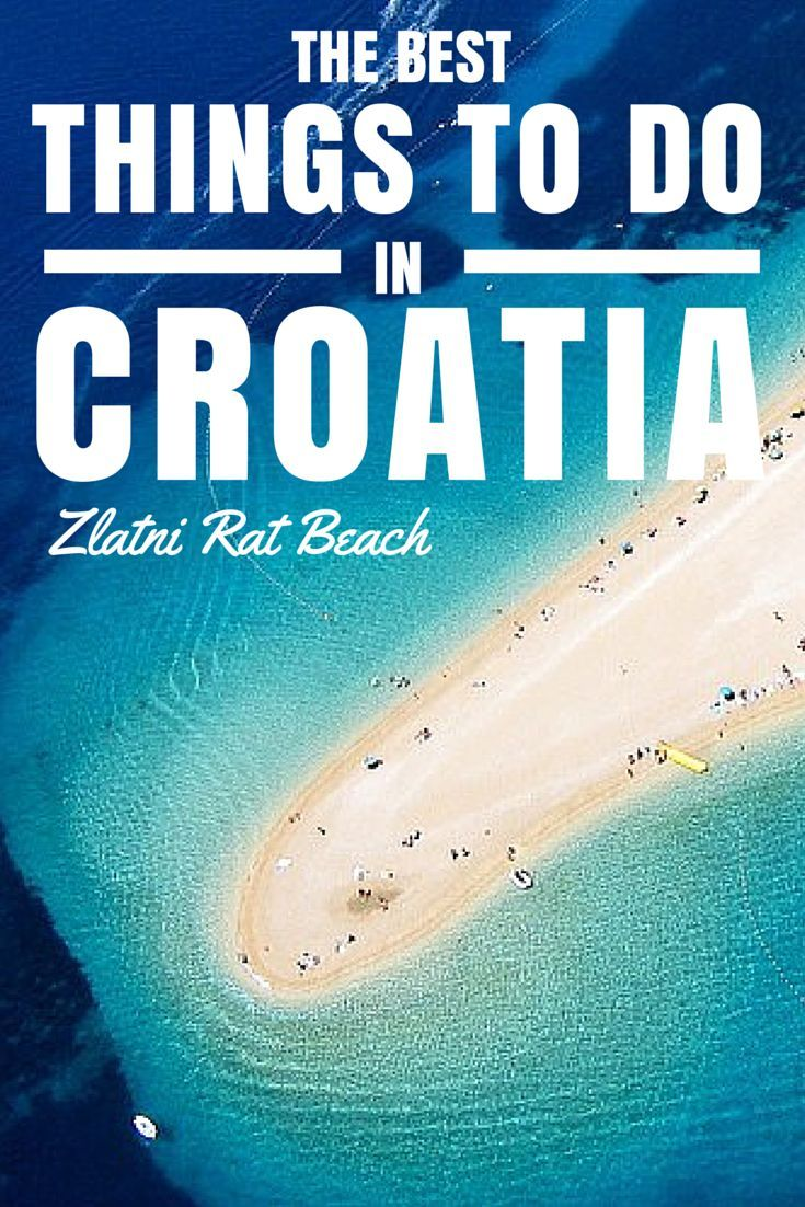 Things to do in Croatia: Zlatni Rat is by far and away Croatia's most beautiful and unique beach, and it was named 3rd in Europe's Best Beach Destinations!
