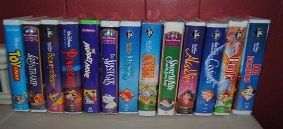 Disney VHS tapes copy