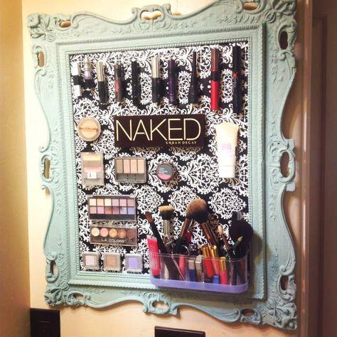 Magnetic Makeup Boards | 13 Fun DIY Makeup Organizer Ideas For Proper Storage