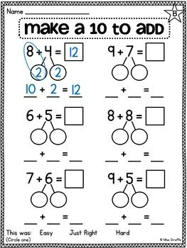 First Grade Math Unit 10