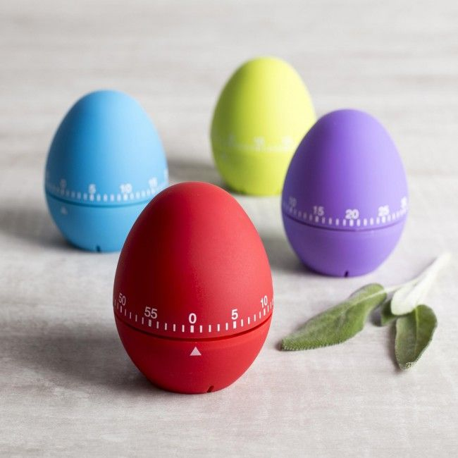 Time eggs or anything else you're cooking in the kitchen with one of these colourful egg shaped timers.