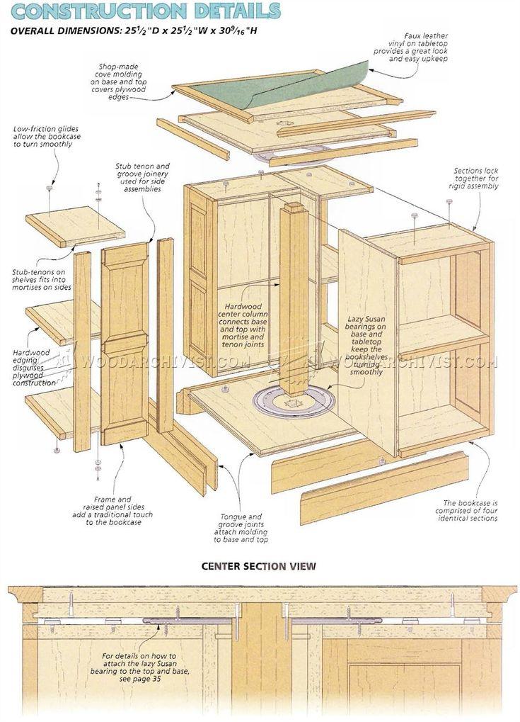 25 best ideas about revolving bookcase on pinterest for Bookshelf chair plans