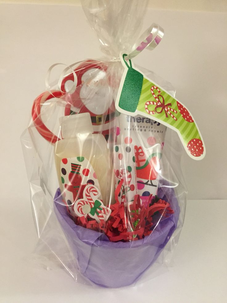 85 best avon gift basket ideas images on pinterest gift ideas avon mini gift basket hand lotion bubble bath lip balm santa note pad and candy cane negle Image collections