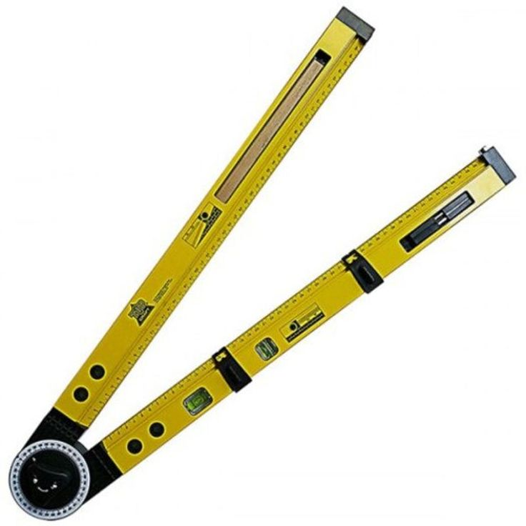 Multi-function Line Gauges Scriber Compass Slope Measurement Angle Instrument Hanging Picture Horizontal Positioning Tool- Yellow