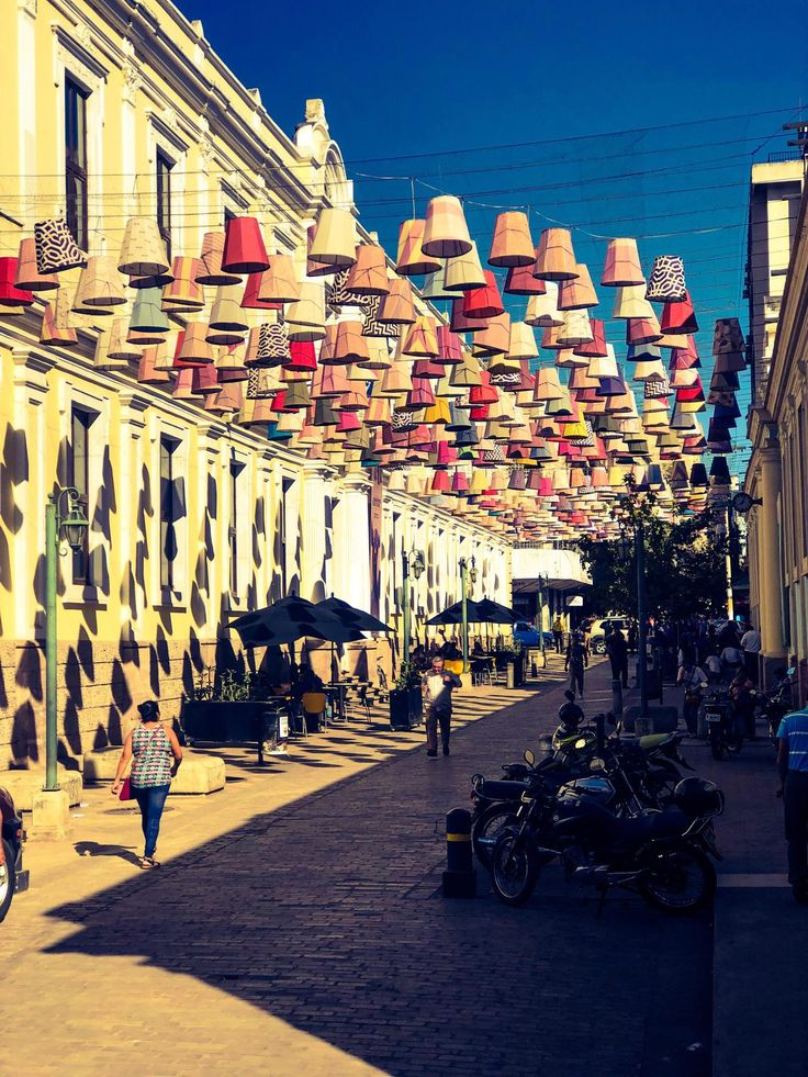 Right outside our hotel in Tegucigalpa. Alley of lampshades. http://ift.tt/2COUHej