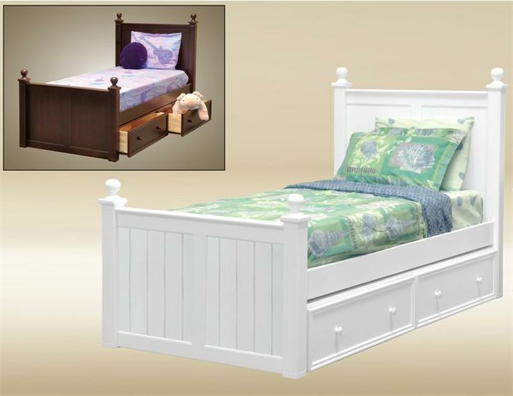 Twin Bed | Tyler Cottage White Wood Twin Bed