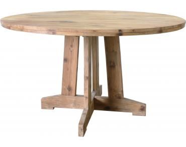 Ronde tafel teak - 140x140x75cm - gerecycled teakhout - HK Living