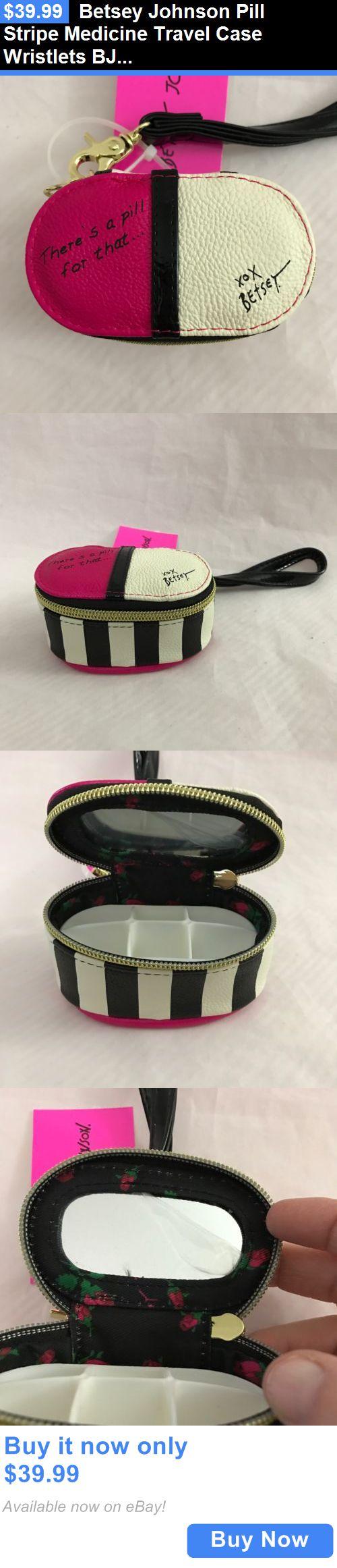 Contact Lens Cases: Betsey Johnson Pill Stripe Medicine Travel Case Wristlets Bj56095p Prescription BUY IT NOW ONLY: $39.99