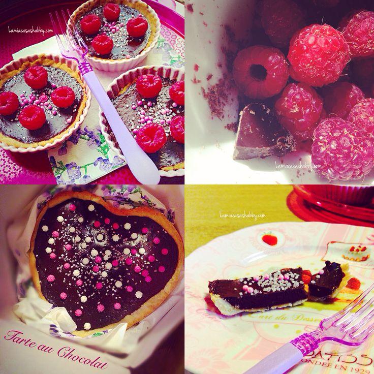 Tartelettes au Chocolat su lamiacasashabby.com