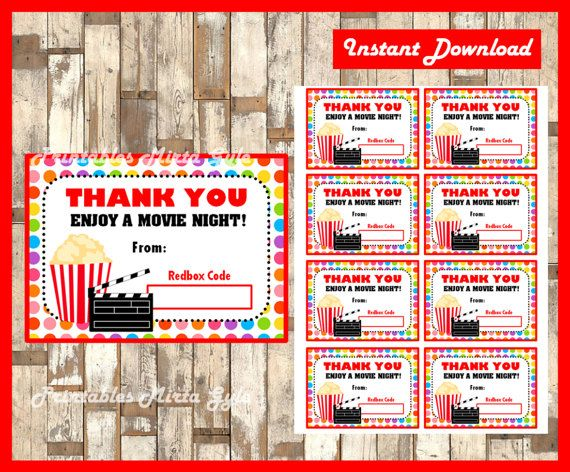 Redbox Gift Card instant download  by PrintablesMirtaGyle on Etsy