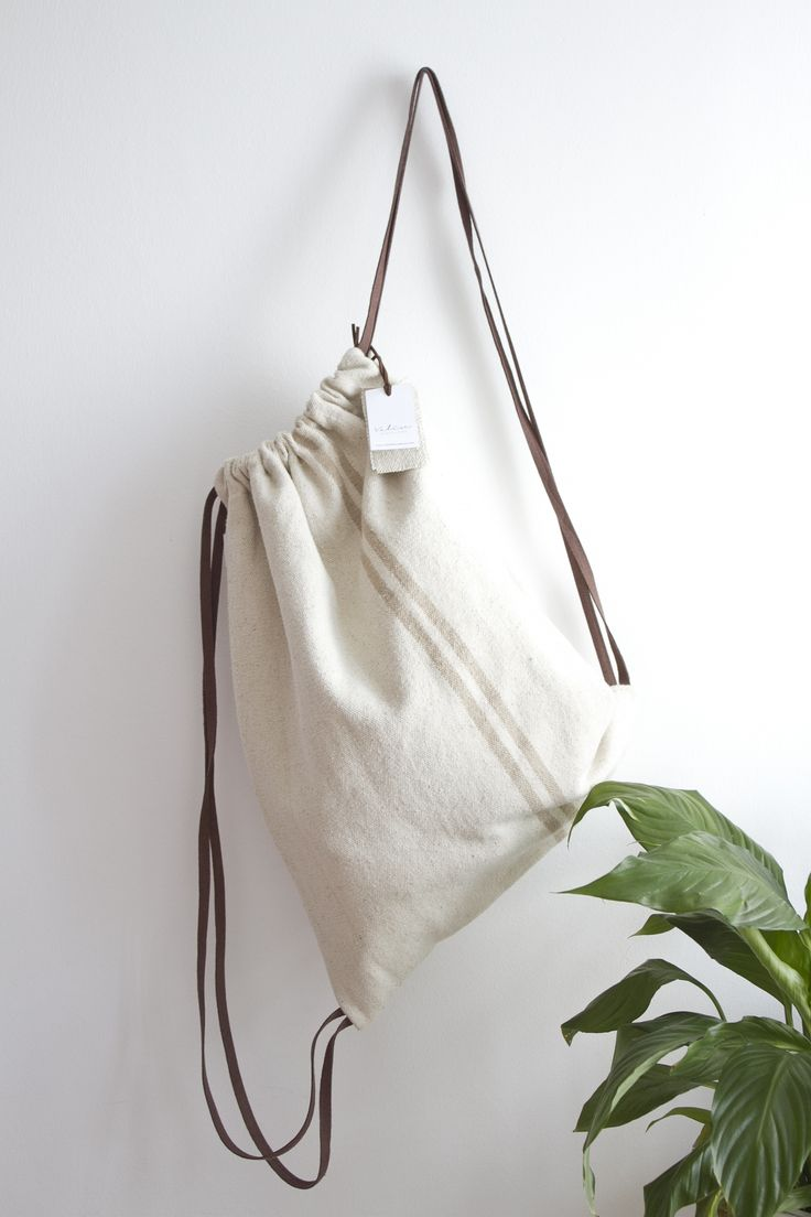 Valise tela rústica con asas en piel marrón. #bagpack #barcelona #valisebags #valisebarcelona