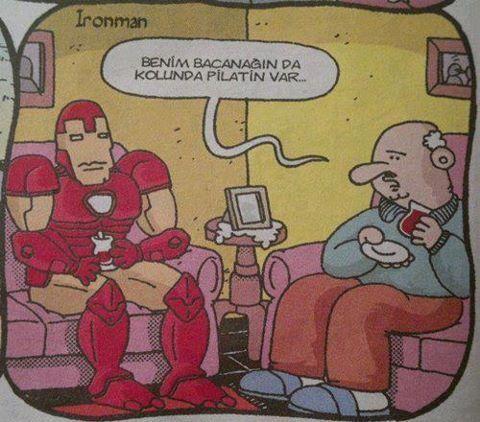 İron man Türk olsa maruz kalacağı muamele bu.. (Sonra memlekette neden süper kahraman yetişmiyor..Yetişmez tabi.)