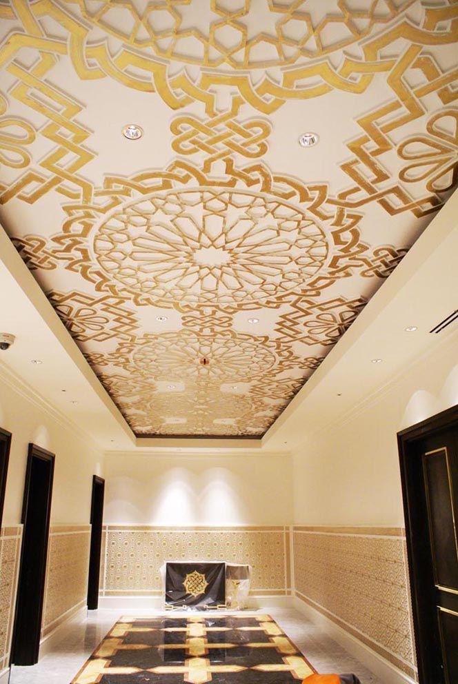 Palacio de Congresos Oran. techos oro mudejar arabe decoracion lujo techos