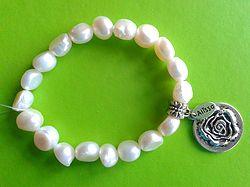 Online at Treasures to Treasure Pretty Pearl Bracelet