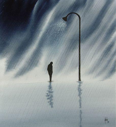 Sad Man Alone In Rain | www.pixshark.com - Images ...