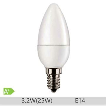 Bec LED PILA 3.2W E14 forma lumanare B35, lumina calda  http://www.etbm.ro/becuri-led