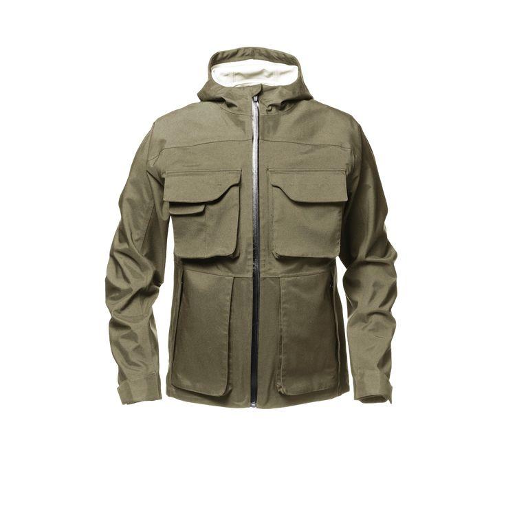 men's field jacket green front
