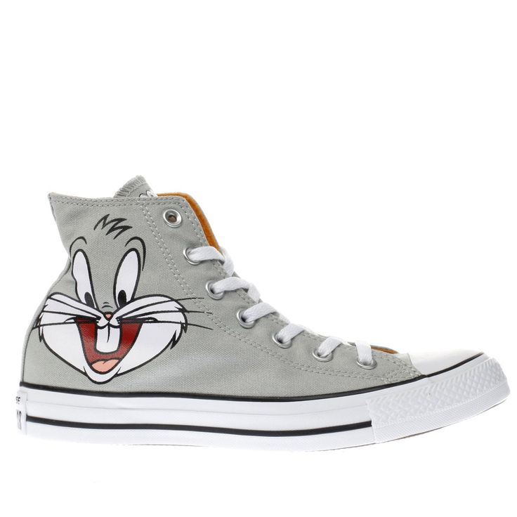 womens converse grey looney tunes bugs bunny trainers