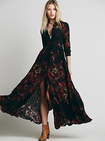 La Robe Longue Style Folk - Petit Budget au Luxe   Basics&co