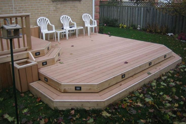 Tiered deck decks and image search on pinterest - Diy tip of the day what side should decking groves face ...