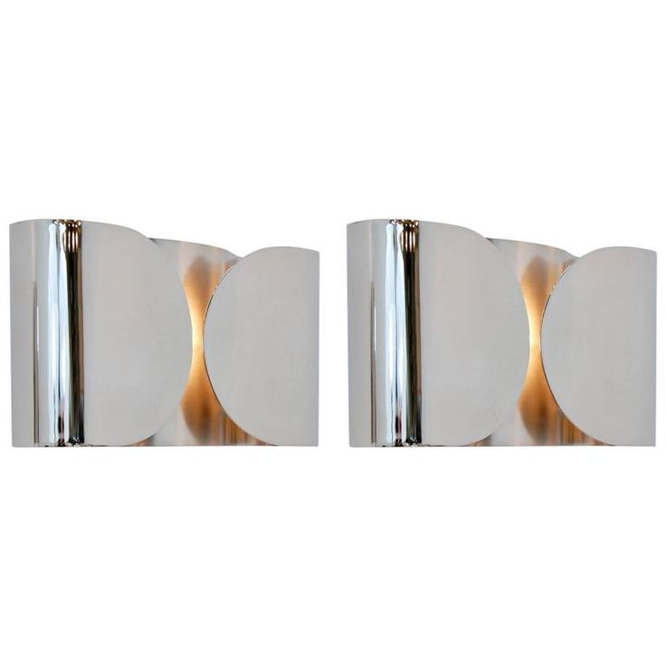 Foglio Sconces by Tobia Scarpa in Nickel Finish | 1stdibs.com