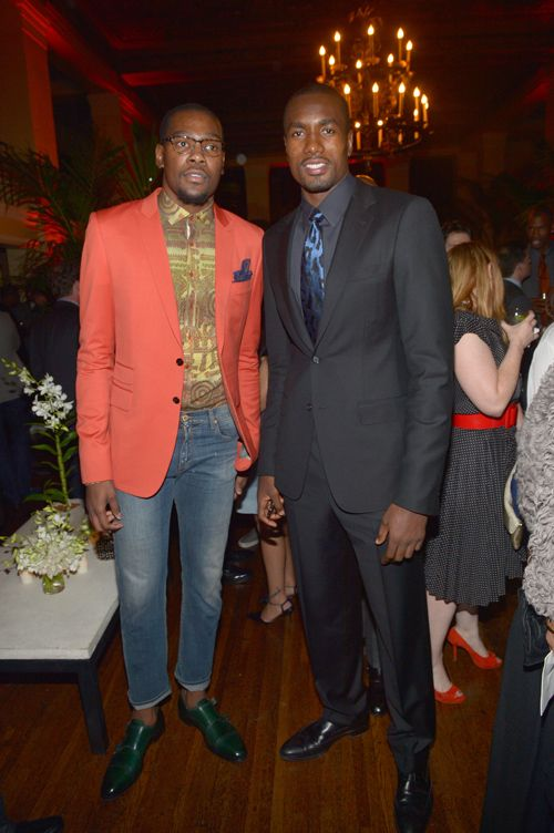 GQ Men Of The Year Party - Inside -----Kevin Durant and Serge Ibaka