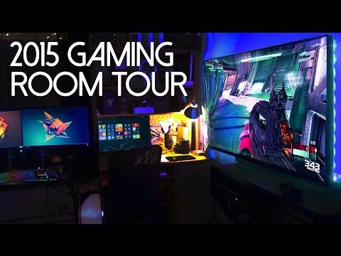My 2015 ULTIMATE Gaming Setup / Room Tour! - YouTube