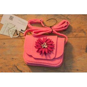 Etoi Design - różowa torebka z kwiatkiem