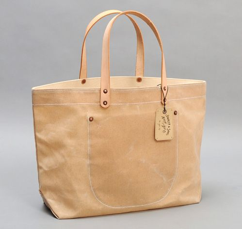 Stanley Amp Sons Waxed Canvas Tote Bag W Leather Handles