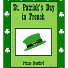St. Patrick's Day in French - vocab. sheets, wks, matching game