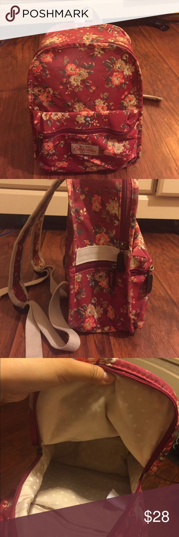 CATH KIDSTON MINI BACKPACK In great condition! Mini backpack.                Dimensions.                                                                 Height: 12 inches                                               Length: 8.5 inches (across the backpack)              Width: About 4 inches cath kidston Bags Mini Bags
