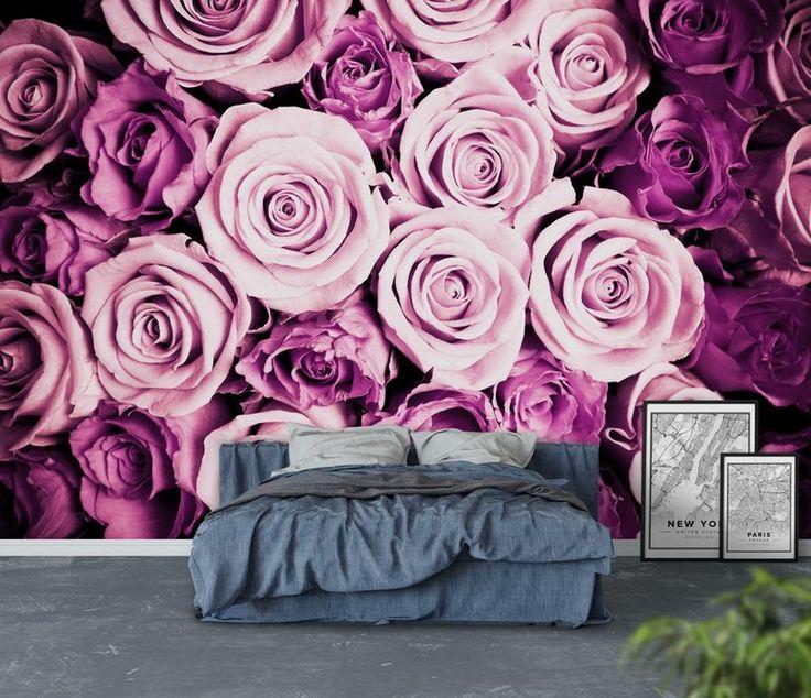 Rosa rosor Tapet