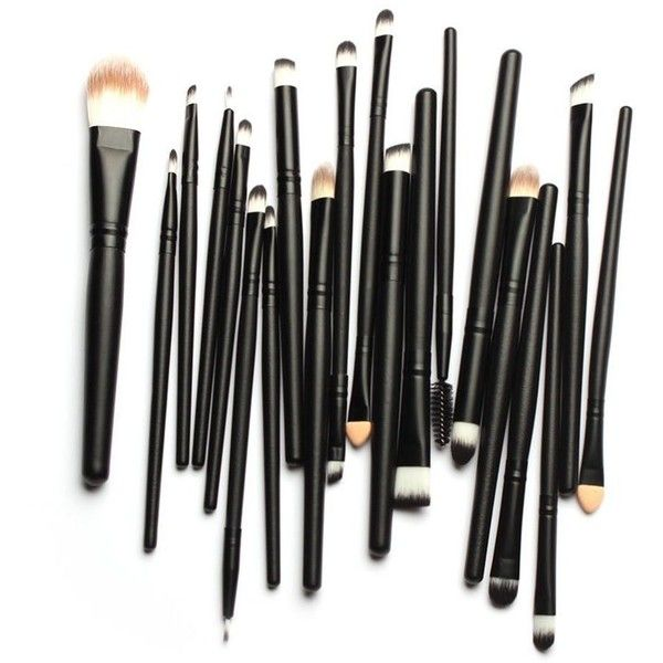 Bienaime Professional Makeup Brush Set Cosmetics Foundation Blending... (£4.57) ❤ liked on Polyvore featuring beauty products, makeup, makeup tools, makeup brushes, beauty, black makeup brushes, black oxide kit, makeup powder brush and black kit