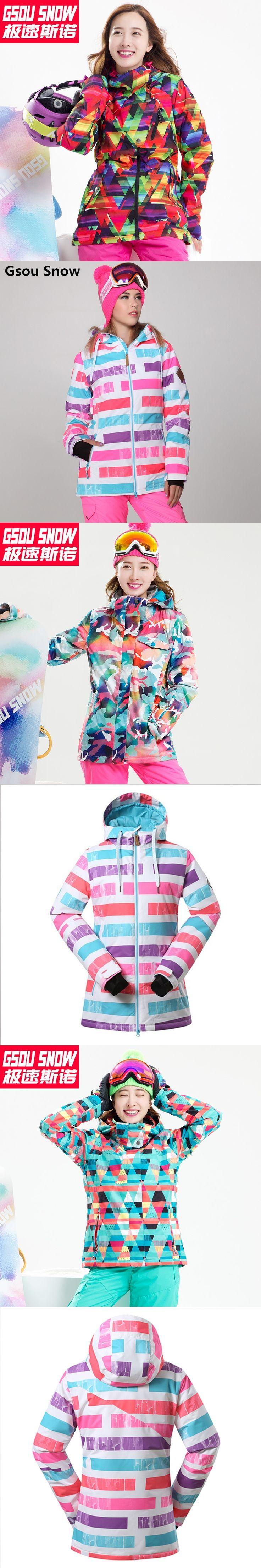Gsou Snow winter ski suit female ski jacket women snow snowboard jackets mountain skiing chaqueta nieve mujer ski jas vrouwen