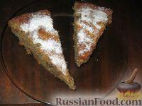 Фото к рецепту: Постный пирог с яблоками и джемом