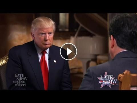 Putin Sent President-Elect Trump A Large Wooden Horse: In this 60 Minutes/Late Show exclusive, Stephen Colbert poses tough questions to the…