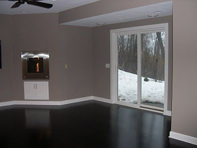 I Love This Paint Color With The Dark Floor And White Trim