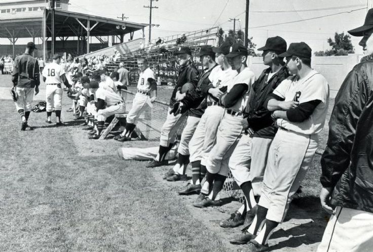 Players relax during Detroit Tigers spring training in Lakeland in 1965. (The Detroit News)