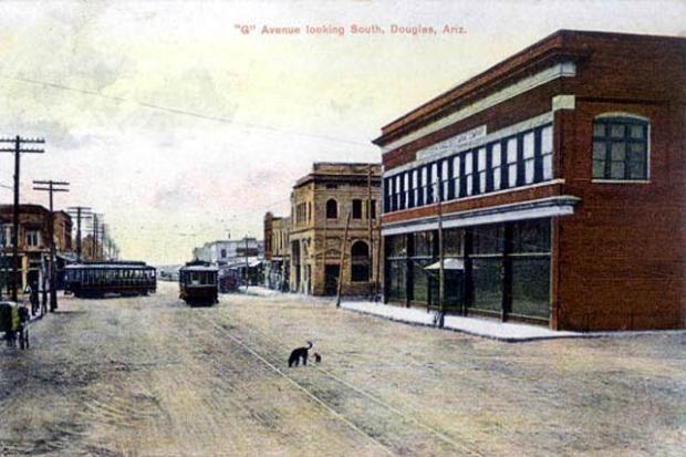 Douglas Arizona. To see our old postcards of Arizona, visit http://oldstratforduponavon.com/arizonaother.html