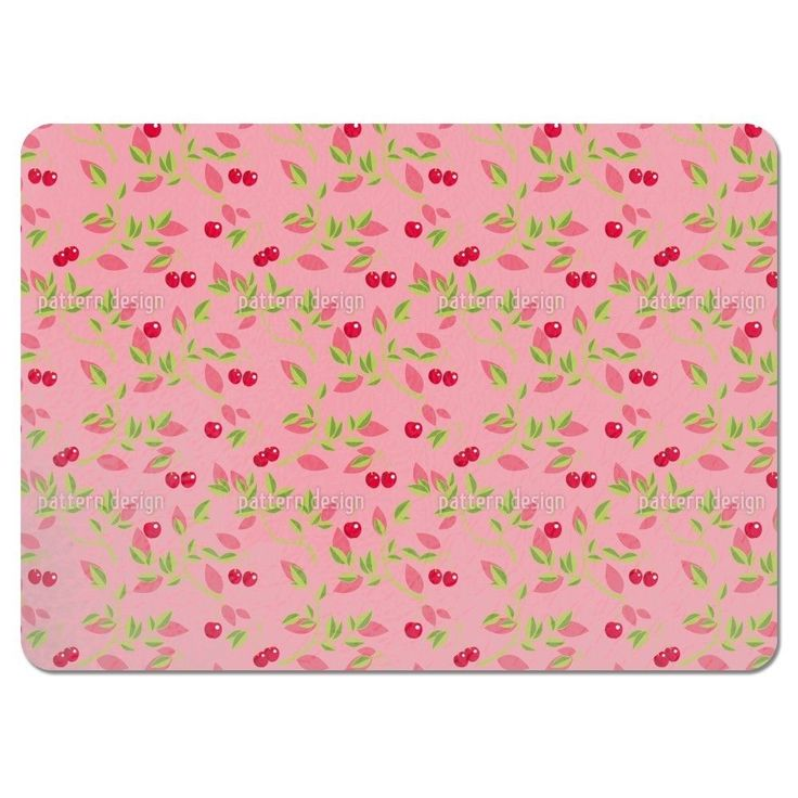 Uneekee Cherry Branches Pink Placemats (Set of 4) (Cherry Branches Pink Placemat) (Polyester)