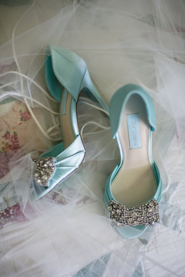 soft aqua marine wedding shoes