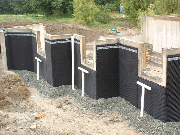 17 best images about superseal 39 s foundation dimpled - Interior basement waterproofing membrane ...